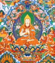 "Thangka 1: Generation of ""bodhi\"" mind in the past lives and prophecies"