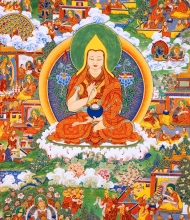 Thangka 8: The Statue of Maitreya in Dzin-tchi Temple
