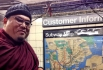 Rinpoche in New York subway station